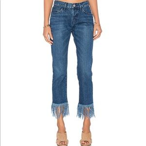 3x1 denim Fringe Straight Crop jeans sz 25